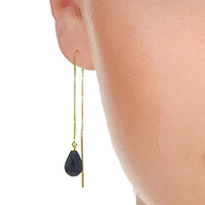 Sapphire Scintilla Briolette Earrings 6.6ctw in 9ct Gold