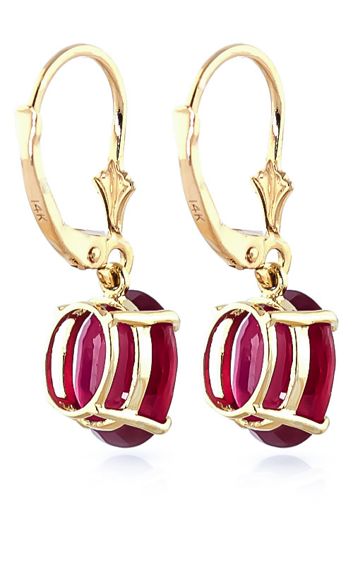 Ruby Drop Earrings 7.0ctw in 9ct Gold