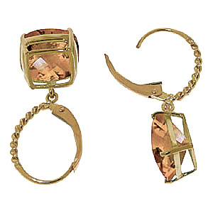 Citrine Rococo Twist Drop Earrings 7.2ctw in 9ct Gold