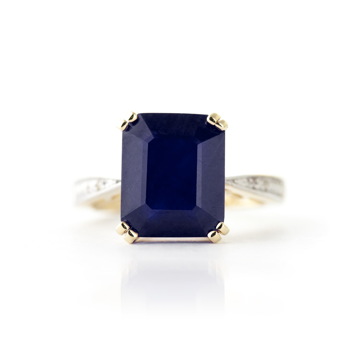 Sapphire and Diamond Ring 7.25ct in 9ct Gold
