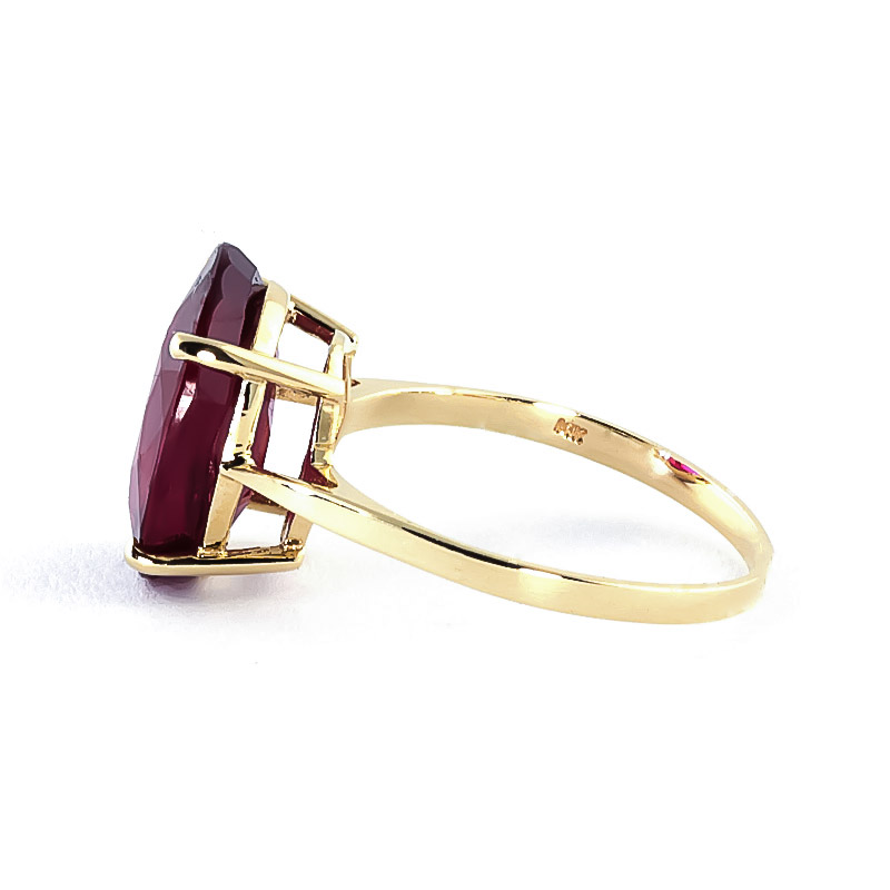 Oval Cut Ruby Ring 7.5ct in 14K Gold