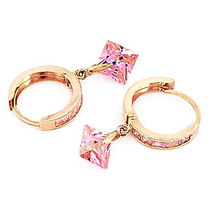 Cubic Zirconia Huggie Earrings 7.58ctw in 9ct Gold