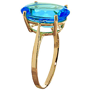 Oval Cut Blue Topaz Ring 8.0ct in 9ct Gold