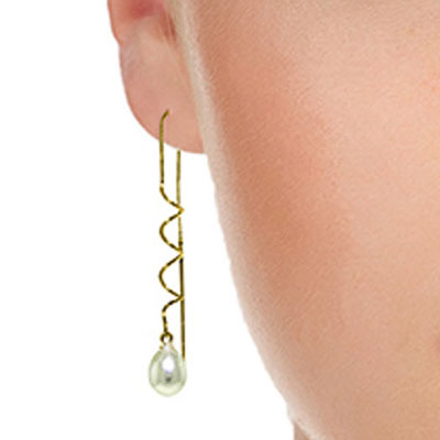 Pearl Earrings 8.0ctw in 9ct Gold