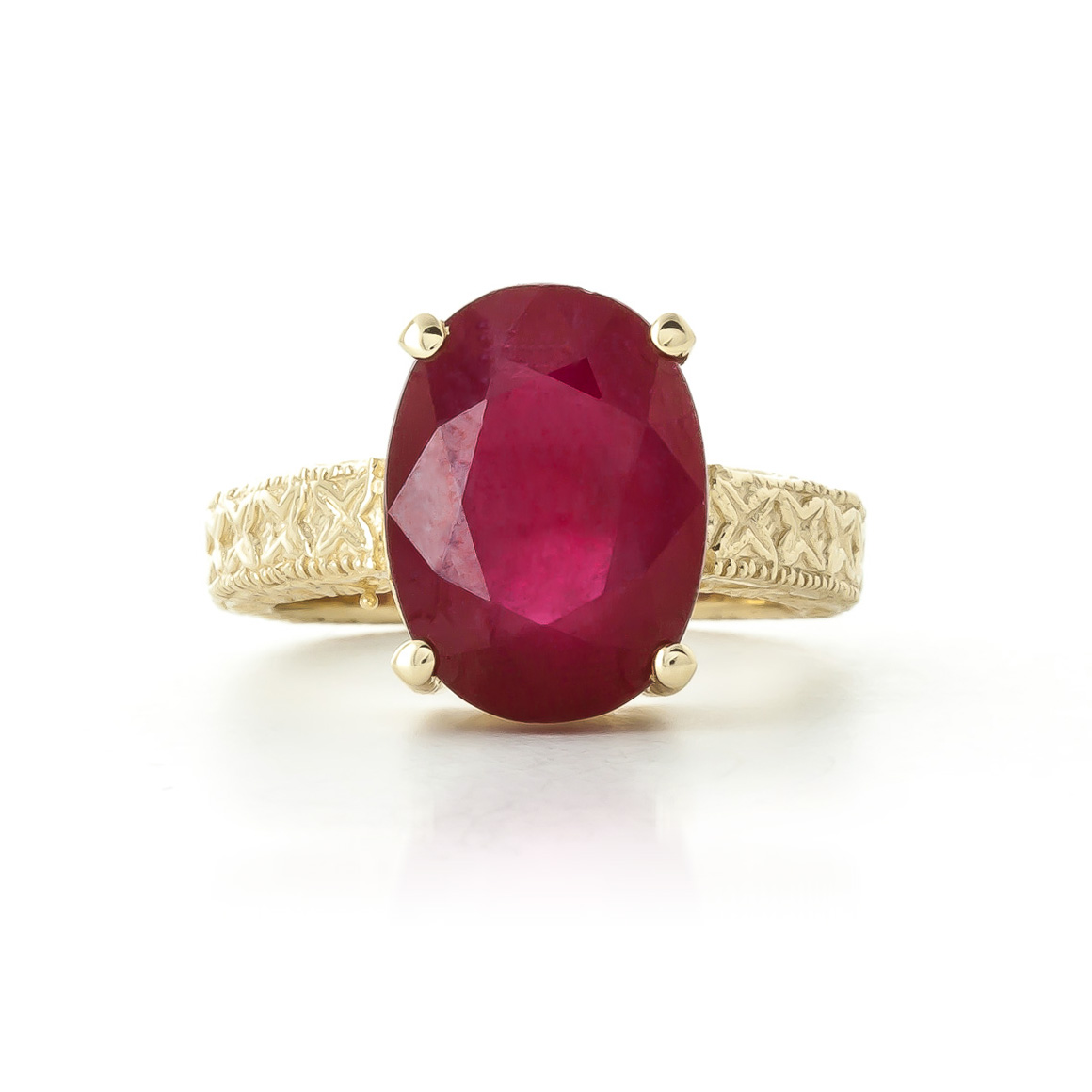 oval cut ruby ring in 9ct gold 5277y qp jewellers. Black Bedroom Furniture Sets. Home Design Ideas