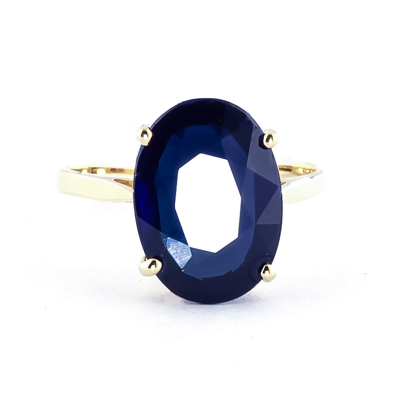 Oval Cut Sapphire Ring 8.5ct in 14K Gold