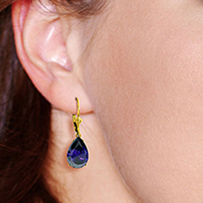 Sapphire Drop Earrings 9.3ctw in 9ct Gold