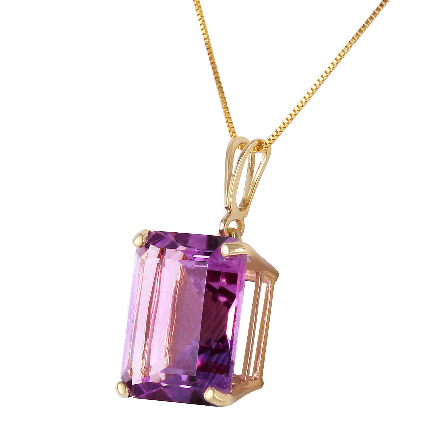 Amethyst Pendant Necklace 6.5ct in 9ct Gold
