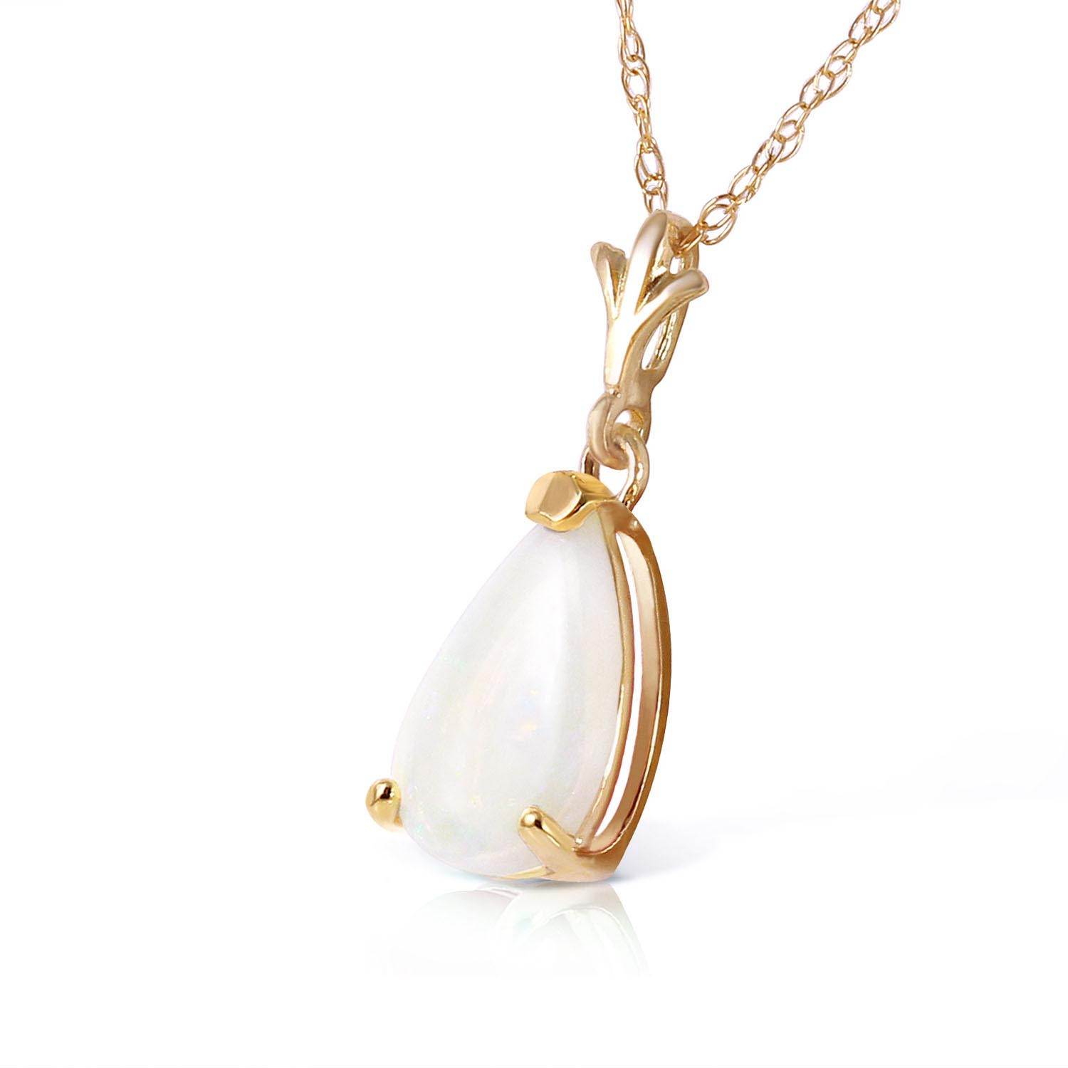 Opal Belle Pendant Necklace 0.77ct in 9ct Gold
