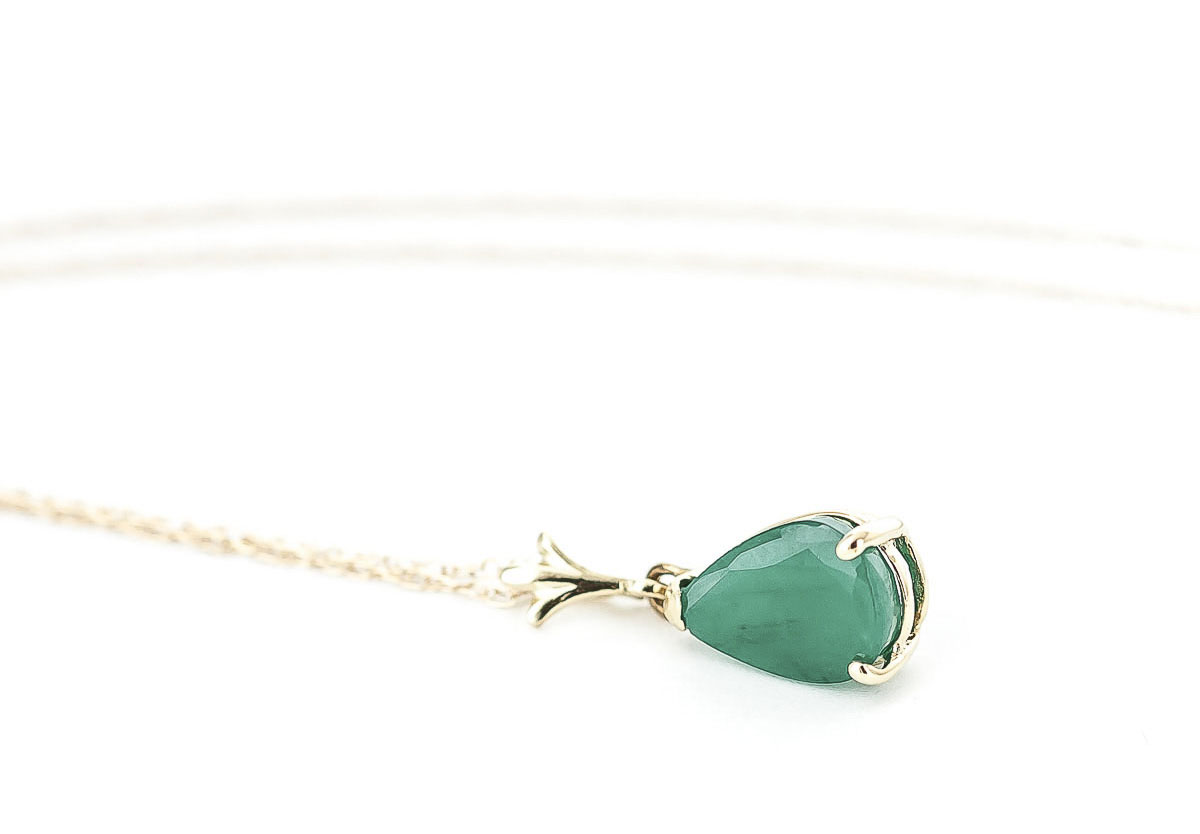 Emerald Belle Pendant Necklace 1.0ct in 14K Gold