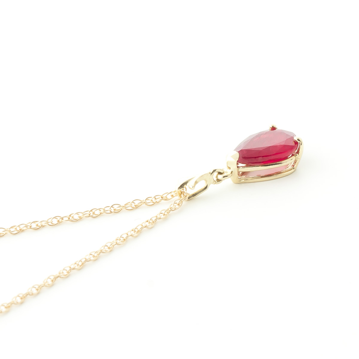Ruby Belle Pendant Necklace 1.75ct in 9ct Gold