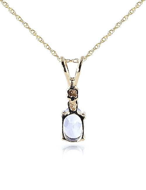 Tanzanite and Diamond Pendant Necklace 0.45ct in 14K Gold