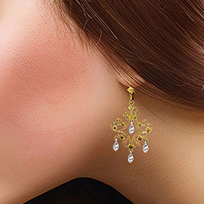 Drop Earrings in 9ct Gold