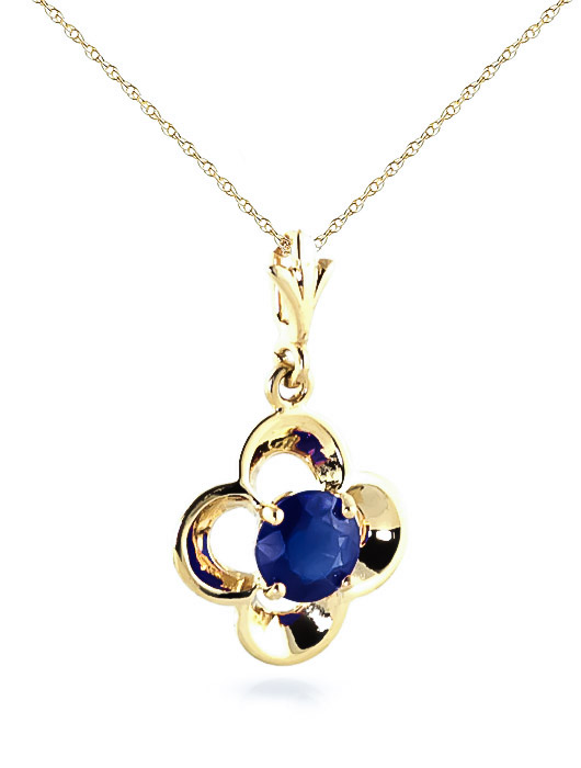 Sapphire Corona Pendant Necklace 0.55ct in 9ct Gold