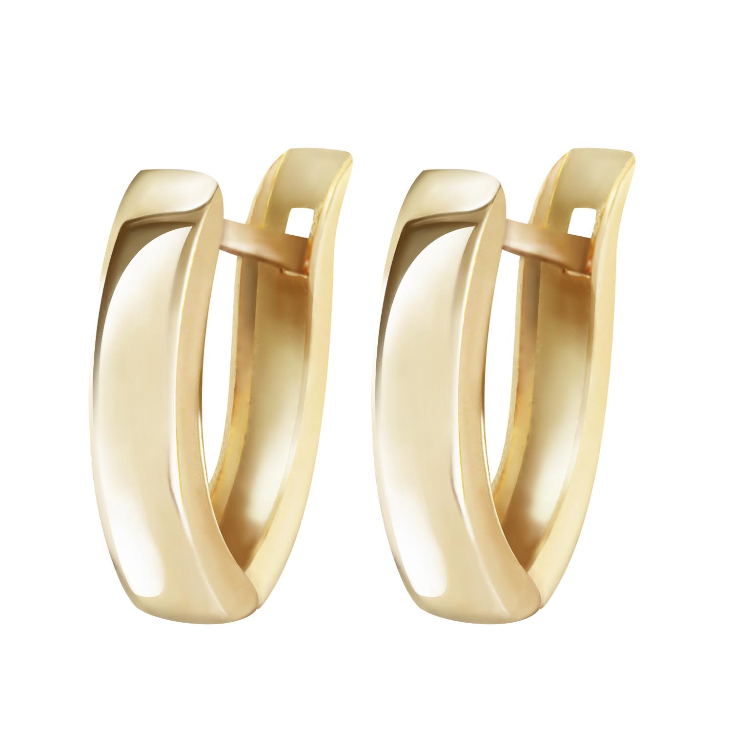 Dallas Huggie Earrings in 14K Gold