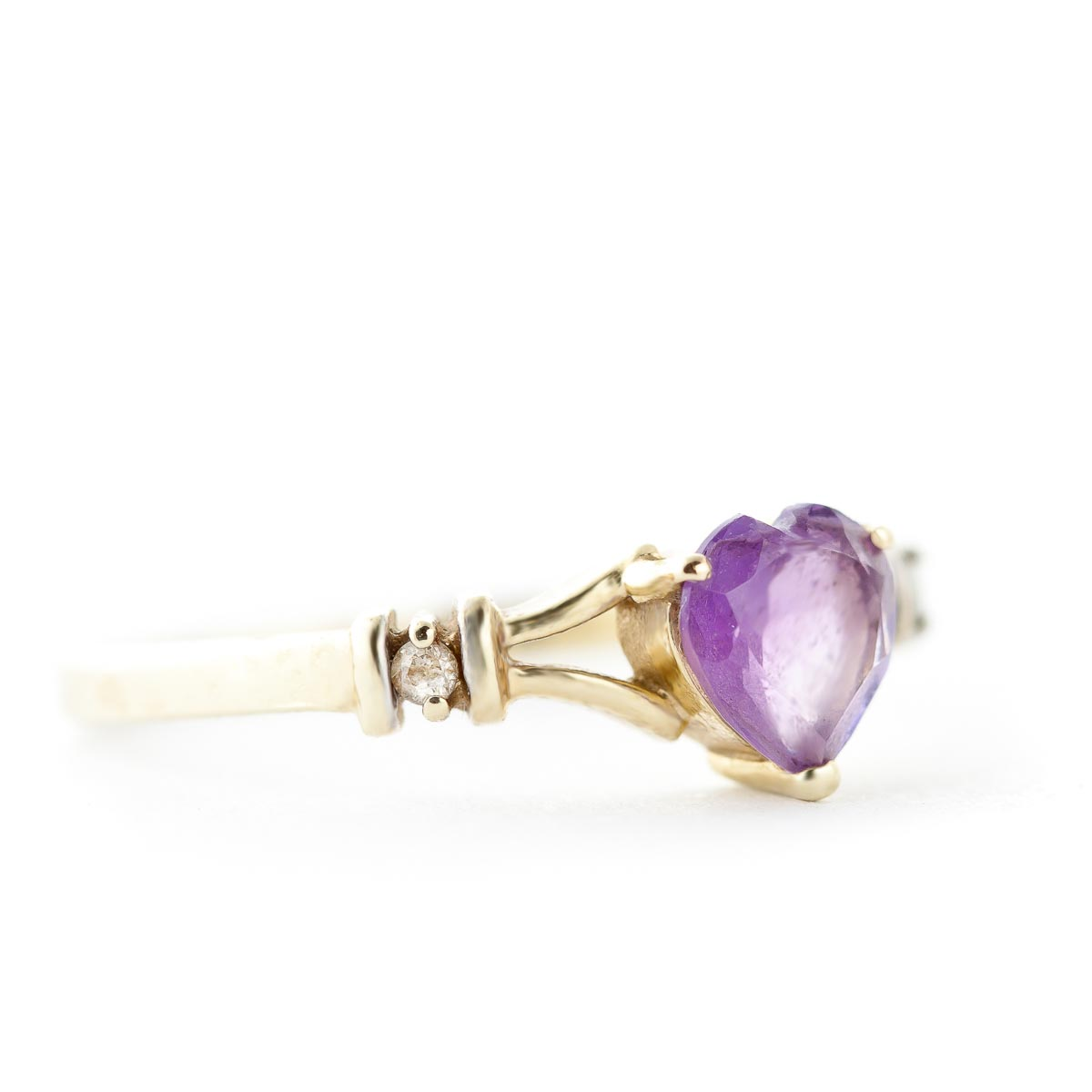 Amethyst and Diamond Ring 0.45ct in 9ct Gold
