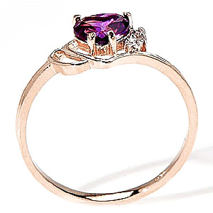 Amethyst and Diamond Passion Ring 0.95ct in 9ct Gold