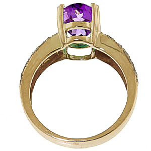Amethyst and Diamond Renaissance Ring 3.0ct in 14K Gold