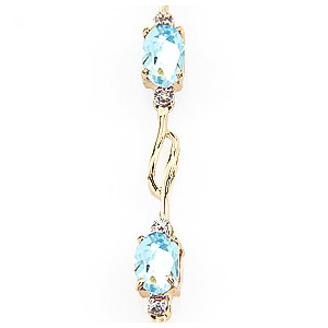 Aquamarine and Diamond Classic Tennis Bracelet 3.38ctw in 9ct Gold