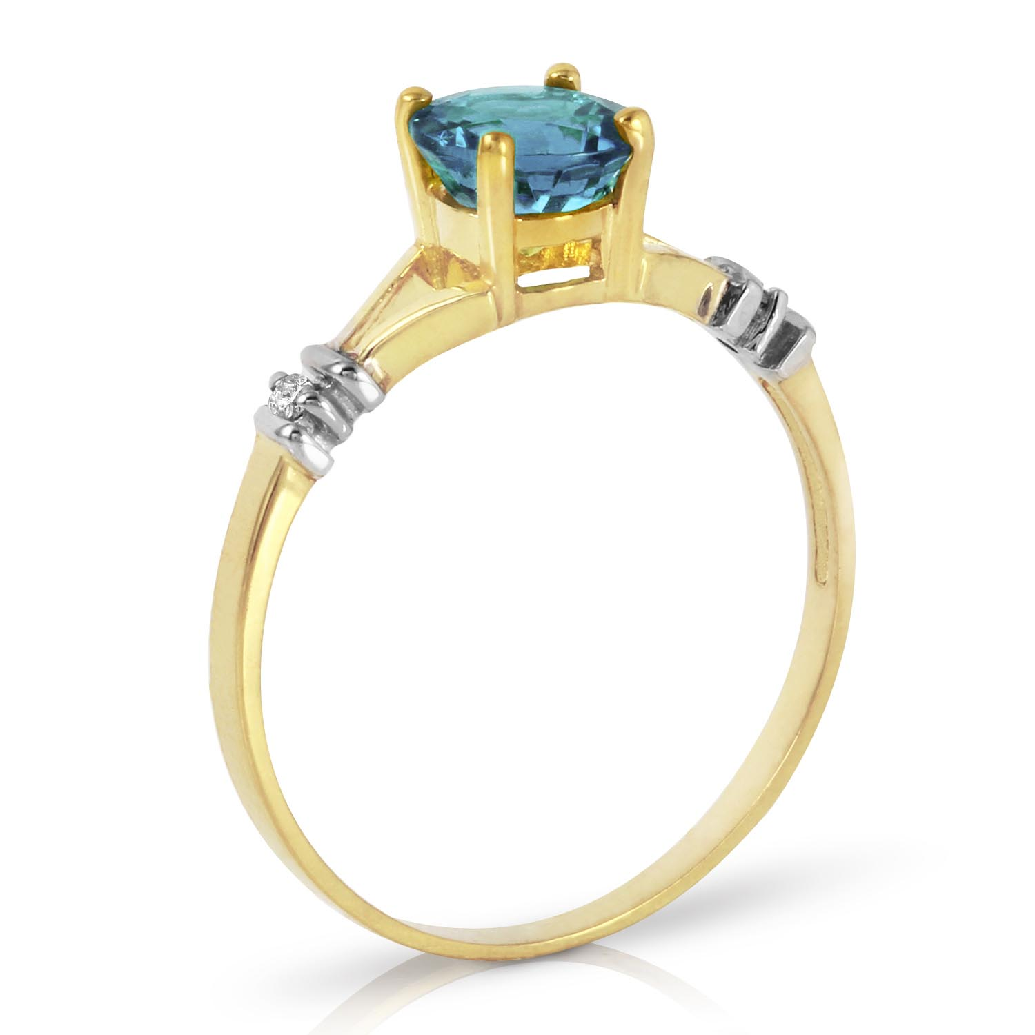 Blue Topaz and Diamond Aspire Ring 1.0ct in 14K Gold
