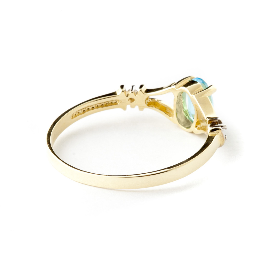 Blue Topaz and Diamond Aspire Ring 0.45ct in 9ct Gold