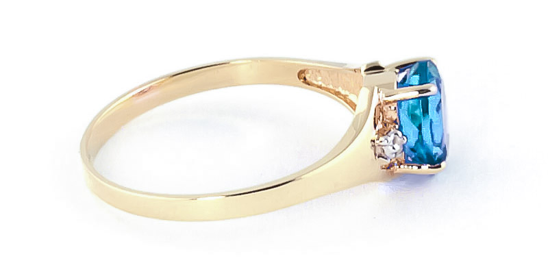 Blue Topaz and Diamond Desire Ring 0.75ct in 9ct Gold