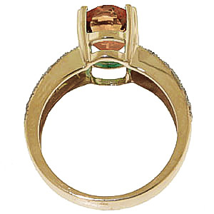 Citrine and Diamond Renaissance Ring 3.0ct in 9ct Gold