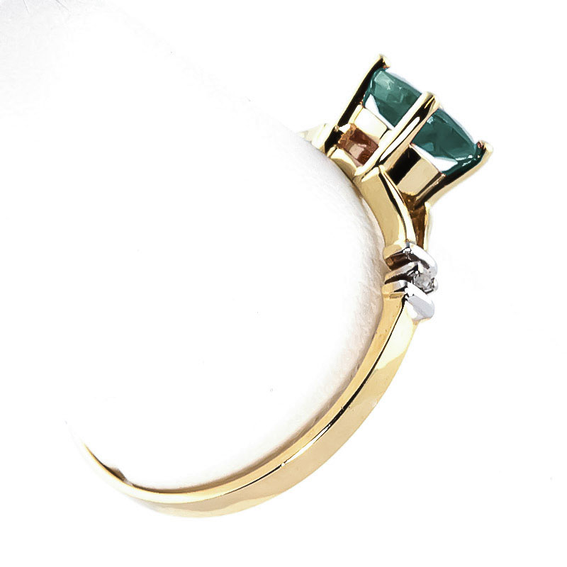 Emerald and Diamond Aspire Ring 0.6ct in 9ct Gold