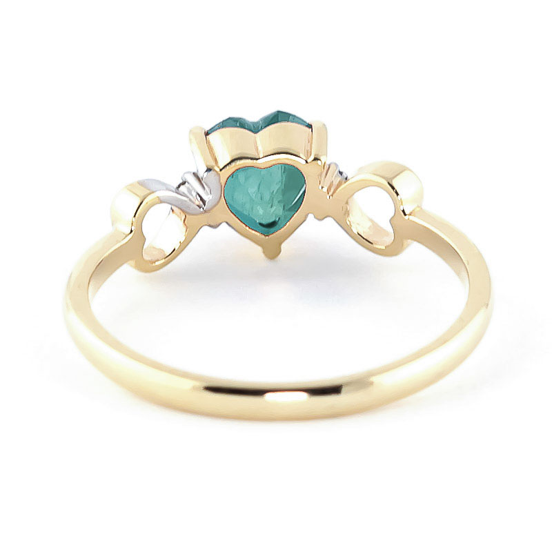 Emerald and Diamond Trinity Ring 1.0ct in 9ct Gold