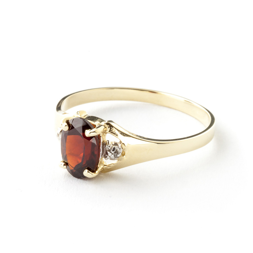 Garnet and Diamond Desire Ring 0.75ct in 9ct Gold
