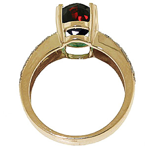 Garnet and Diamond Renaissance Ring 3.0ct in 9ct Gold