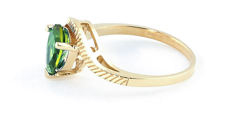 Peridot and Diamond Belle Ring 1.5ct in 9ct Gold
