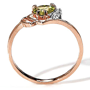 Peridot and Diamond Passion Ring 0.95ct in 9ct Gold