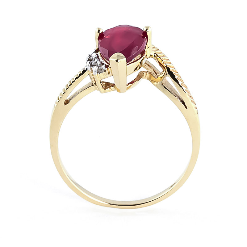 Ruby and Diamond Belle Ring 1.5ct in 9ct Gold
