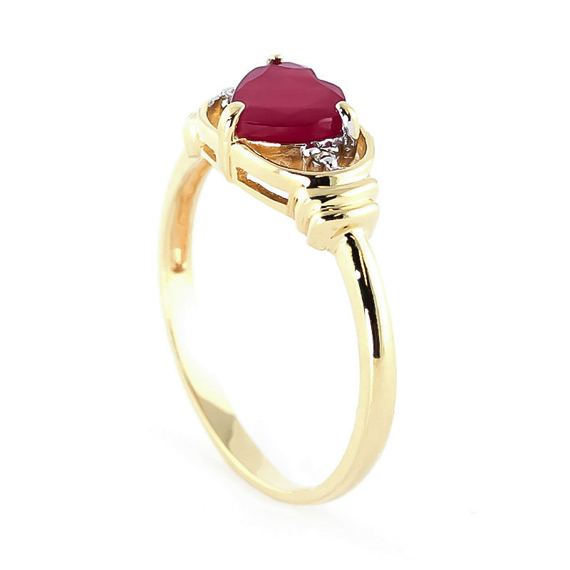 Ruby and Diamond Ring 1.0ct in 9ct Gold