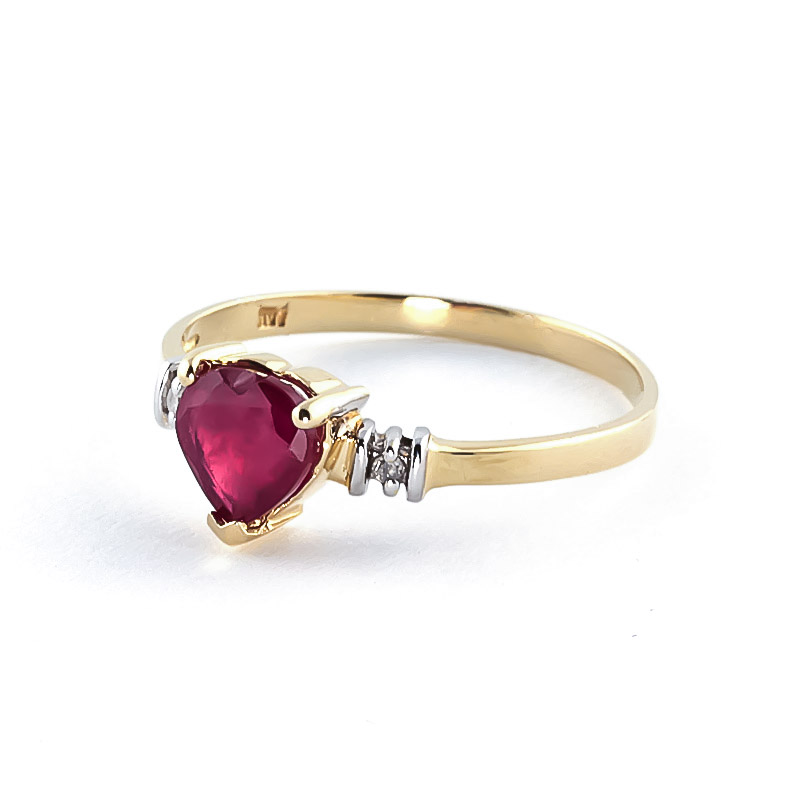 Ruby and Diamond Ring 1.0ct in 14K Gold