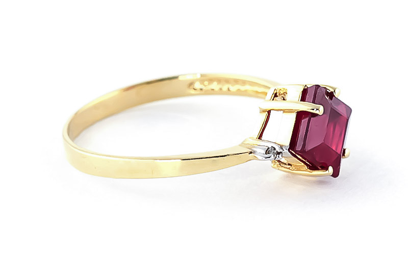 Ruby and Diamond Ring 1.45ct in 14K Gold
