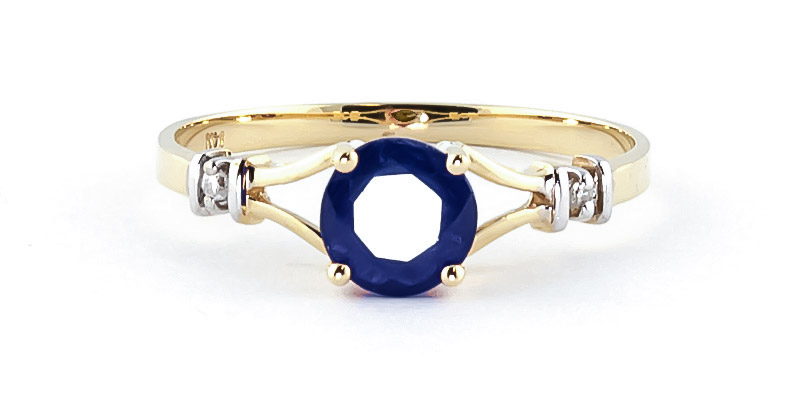 Sapphire and Diamond Aspire Ring 1.0ct in 14K Gold