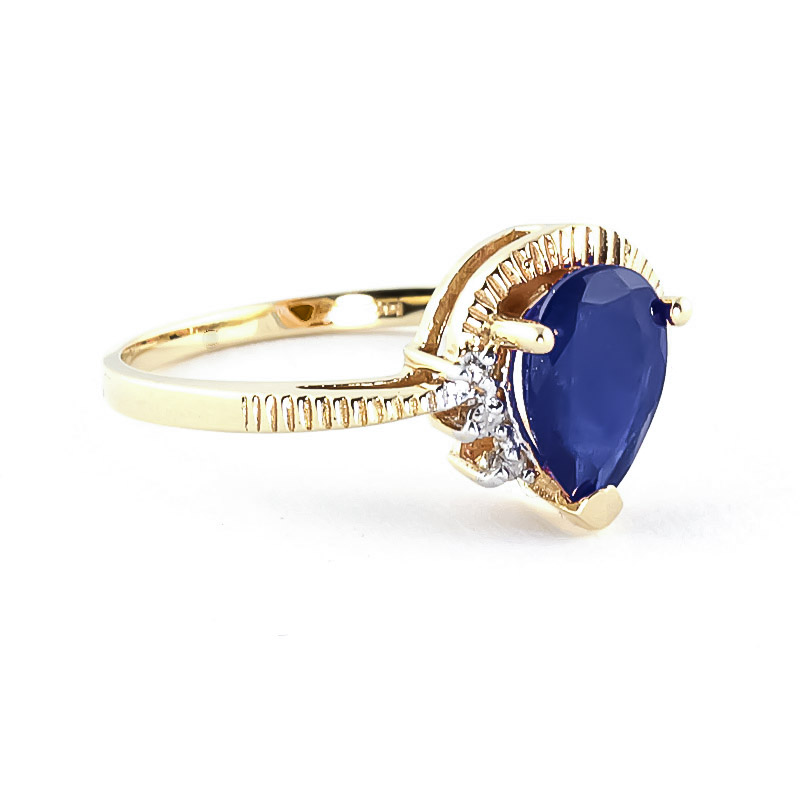 Sapphire and Diamond Belle Ring 1.5ct in 9ct Gold