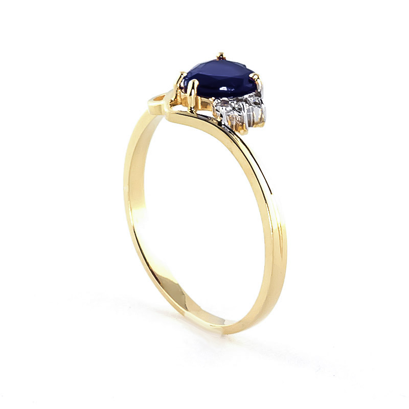 Sapphire and Diamond Devotion Ring 1.0ct in 9ct Gold