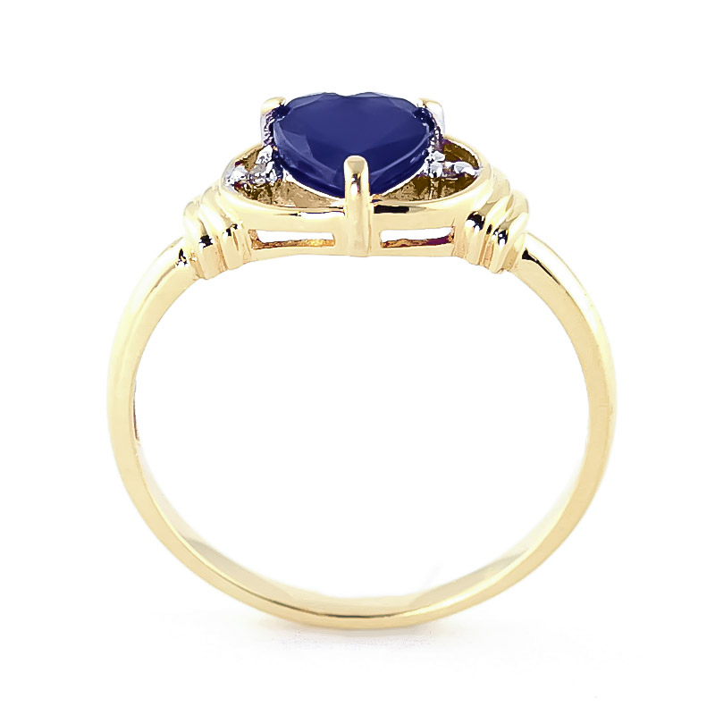 Sapphire and Diamond Ring 1.0ct in 9ct Gold