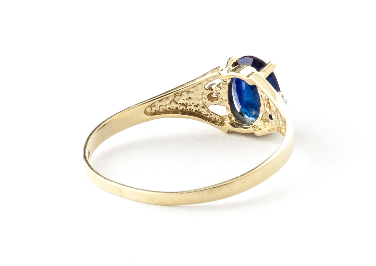 Sapphire and Diamond Desire Ring 1.25ct in 9ct Gold