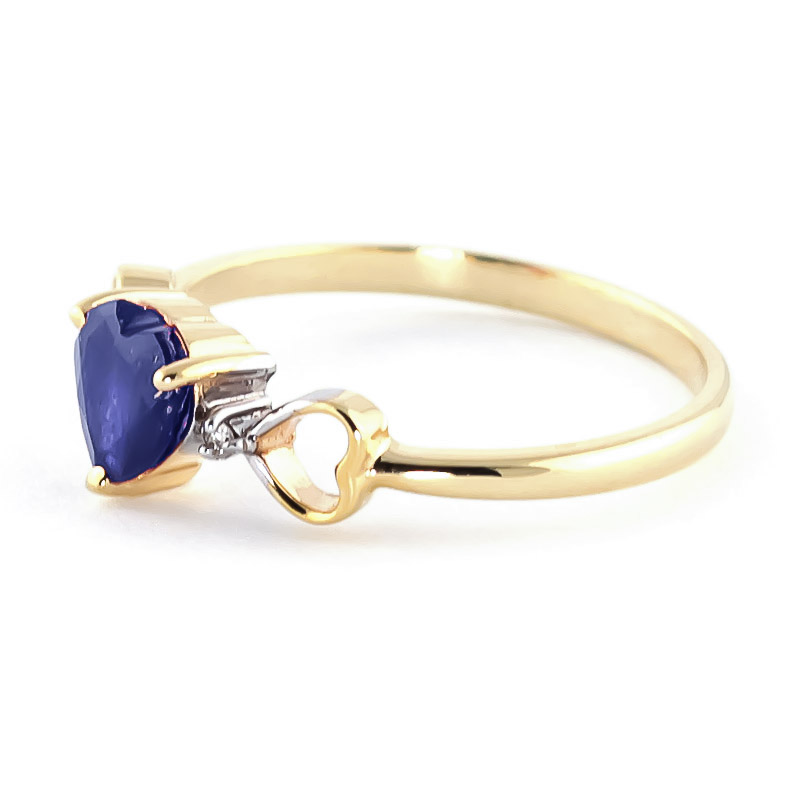 Sapphire and Diamond Trinity Ring 1.0ct in 9ct Gold