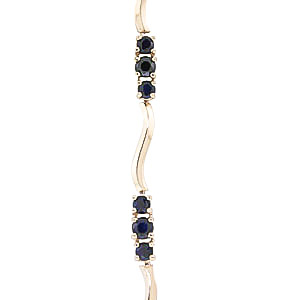 Sapphire and Diamond Trinity Tennis Bracelet 1.75ctw in 9ct Gold
