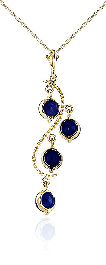 Sapphire Dream Catcher Pendant Necklace 2.0ctw in 9ct Gold