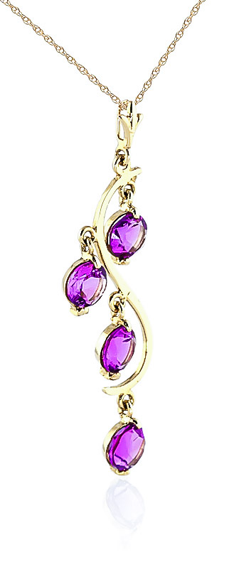 Pink Topaz Dream Catcher Pendant Necklace 2.25ctw in 9ct Gold