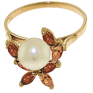 Pearl, Garnet and Citrine Ivy Ring 2.63ctw in 9ct Gold
