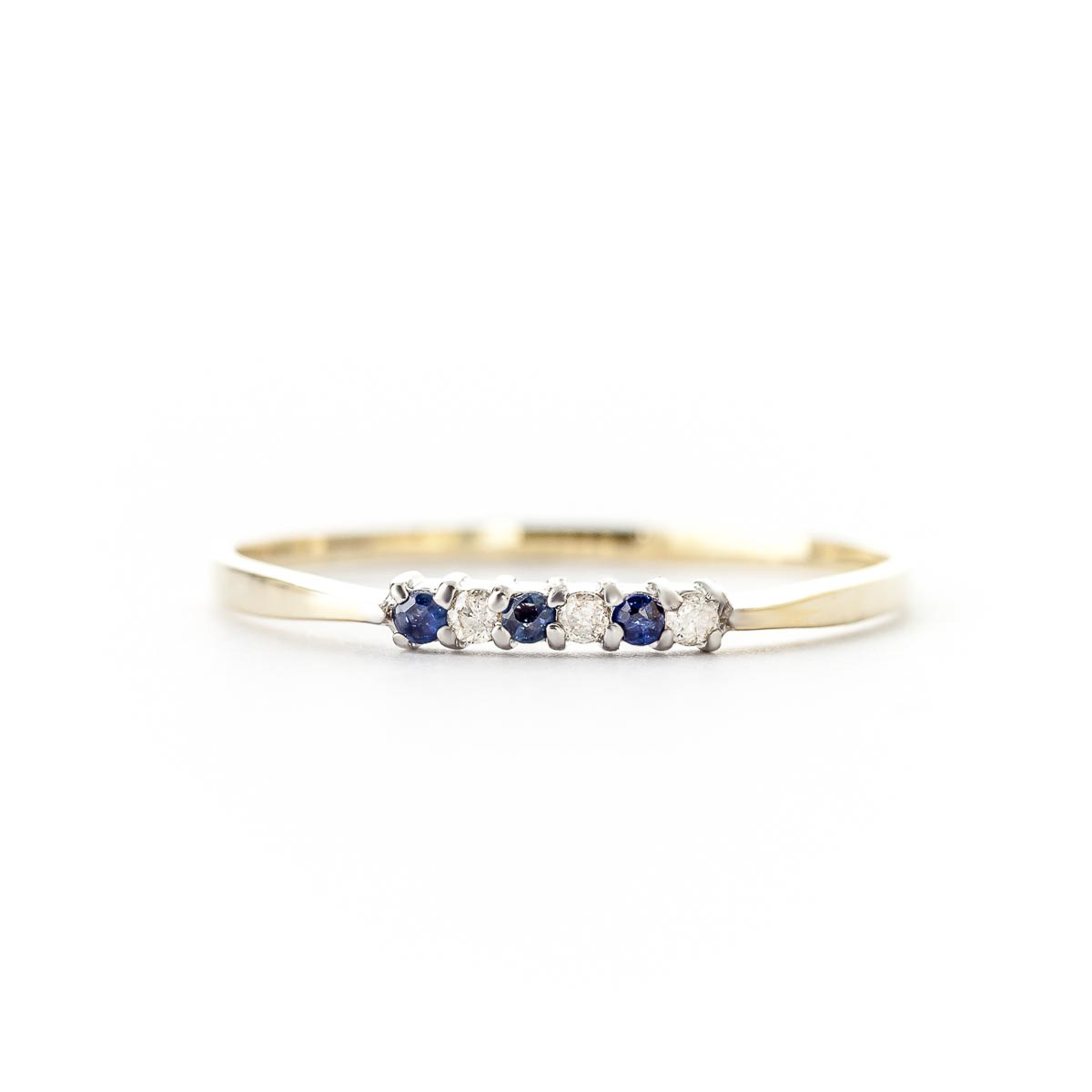 Diamond and Sapphire Ring in 14K Gold