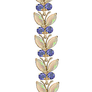 Opal and Tanzanite Butterfly Bracelet 10.5ctw in 9ct Gold