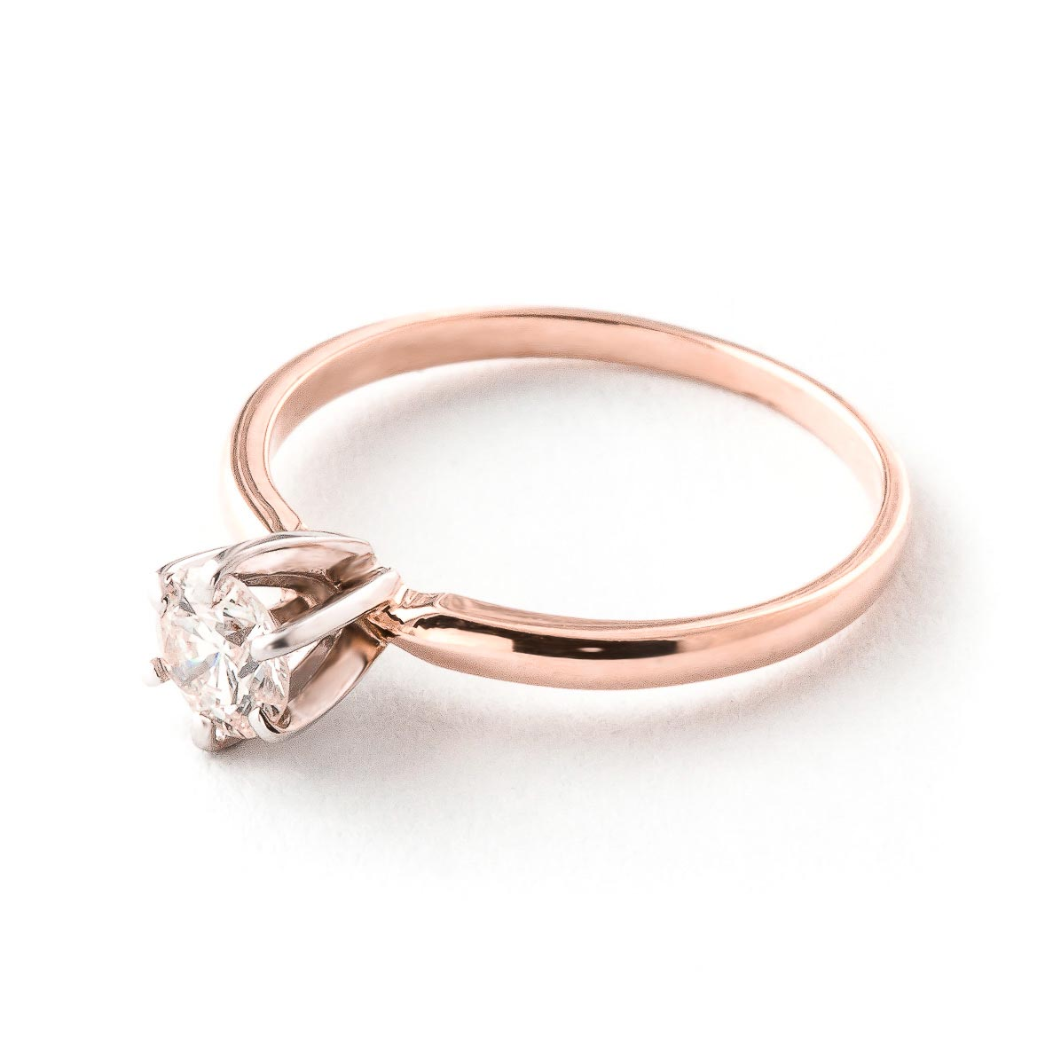 Round Brilliant Cut Diamond Solitaire Ring in 9ct Rose Gold